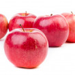 Red apples isolated — Stok fotoğraf