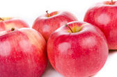 Red apples closeup — Foto Stock