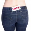 Jeans pocket love — Stock Photo #2560536