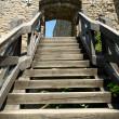 escadaria no castelo — Foto Stock