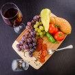 Stock Photo: Fruit, Vegetables and Wine
