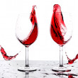 Splashing red wine — Stock Photo