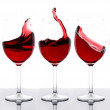 Red wines in a row — Stock Photo