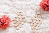 Pink earring — Stock Photo