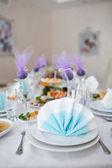 Tavoli per matrimonio — Foto Stock