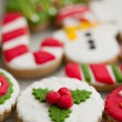 Homemade christmas cookies - gingerbread — Zdjęcie stockowe