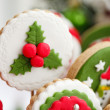 Homemade christmas cookies - gingerbread - Stock Photo