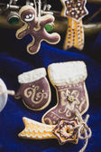 Homemade holiday cookies - gingerbread — Stock Photo