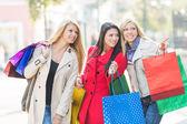 Przyjaciele zakupy — Zdjęcie stockowe