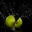 Apple splash — Stock Photo
