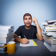 Hard life of student — Stockfoto