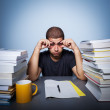 Hard life of student — Stockfoto #41165665