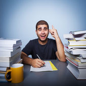Hard life of student — Stock Photo