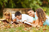Students at park — Stock Photo