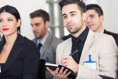 Mensen uit het bedrijfsleven op conferentie — Stockfoto
