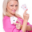 All aces in my hand — Stock Photo