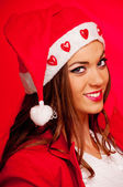 Young female Santa — ストック写真