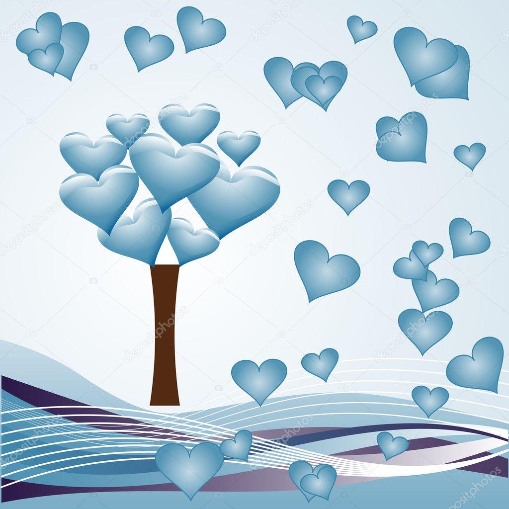 心树-蓝色