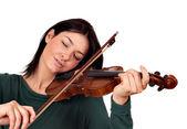 Girl play violin — Stock Photo