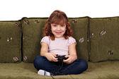Weinig meisje videospel — Stockfoto