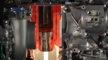 Engine cylinder work — Stock Video