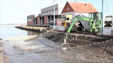 Fish farming industry — Stock Video
