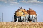 Gastankar för petrokemiska anläggningar — Stockfoto