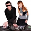 Royalty-Free Stock Photo: Dj with sunglasses and beautiful girl