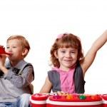 Children fun and play music — Stock Photo #13805115