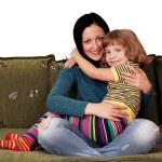 Сестры подростковой и маленькая девочка — Стоковое фото