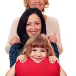 Женщина подростковой и маленькая девочка семьи сцена — Стоковое фото