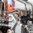 Stock Photo: Heavy truck engine detail