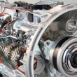 Stock Photo: Heavy truck transmission detail
