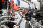 Heavy truck engine detail — Stock Photo