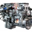 Stock Photo: Heavy truck diesel engine isolated