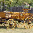 Old wooden coach vintage scene - Stock Photo