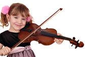 Beautiful little girl play violin — Stock Photo