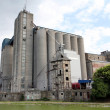 Silo old and new industry zone — Stock Photo