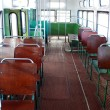 Stock Photo: Inside of old city bus