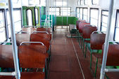 Inside of old city bus — Stock Photo