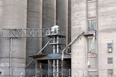 Silo warehouse industry zone detail — Stock Photo