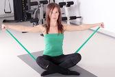 Flicka hälsosam livsstil fitness motion — Stockfoto