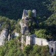 Old ruined fortress on mountain landscape — Stock fotografie