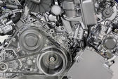 Car engine belt and gears detail — Stock Photo