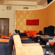 Stock Photo: Cafe with orange walls interior