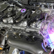 Car hybrid engine futuristic technology - Foto Stock
