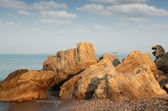 Seascape with rocks summer scene — Stock Photo