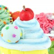 Colorful sweet cupcakes food background — Stock Photo #30438145