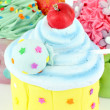 Sweet colorful cupcakes food background — Stock Photo