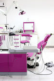Dentist office interior with chair and tools — Foto Stock